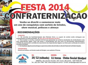 CARTAZ CONFRATERNIZACAO 2014