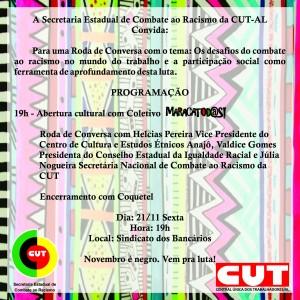 Convite CUT Consciência Negra